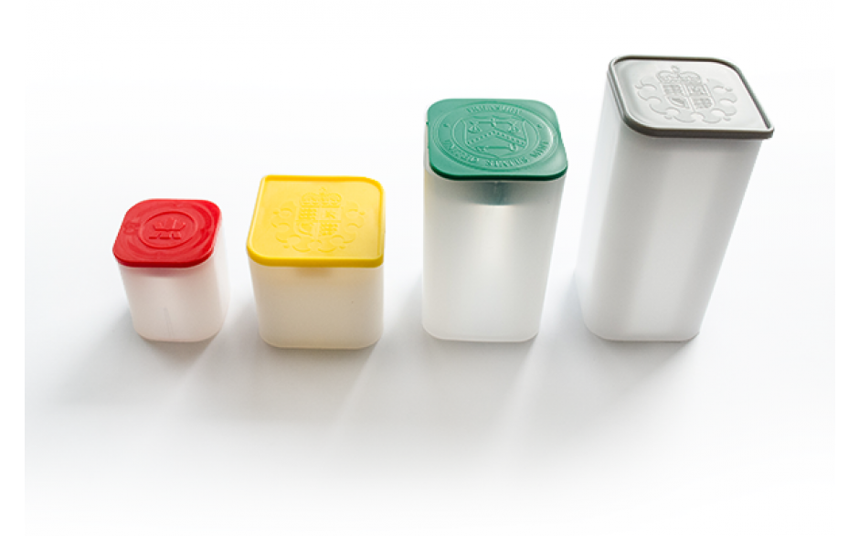Hartplastik-Tube für Silbermünzen (leer)