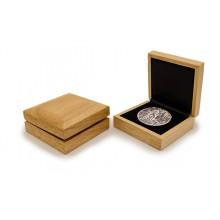 Geschenkbox aus Holz für Silbermünzen